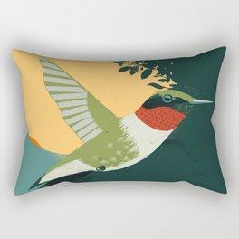 Ruby-Throated Hummingbird Rectangular Pillow