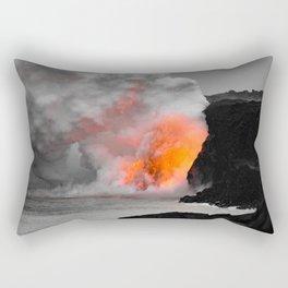 Lava Meets Ocean Rectangular Pillow