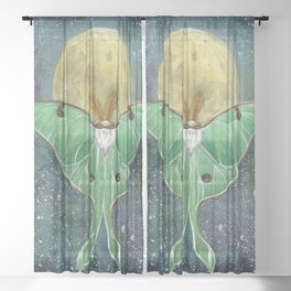 Luna Moth Sheer Curtain