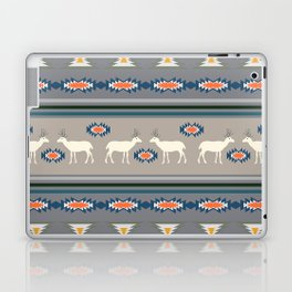 Decorative Christmas pattern with deer Laptop & iPad Skin
