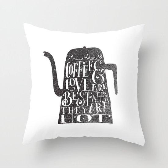 COFFEE & LOVE Throw Pillow