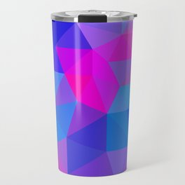 Magenta Blacklight Low Poly Travel Mug