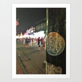 Good Vibes on Bourbon Street Art Print