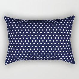 Navy & White Polka Dot Rectangular Pillow