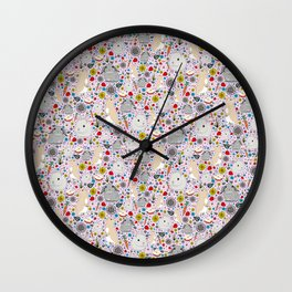 Pretty Bunny Rabbits Wall Clock