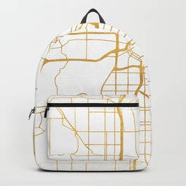 MINNEAPOLIS MINNESOTA CITY STREET MAP ART Backpack
