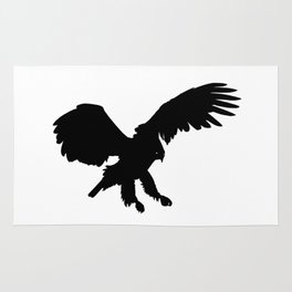 Eagle Black Silhouette Pet Animal Cool Style Rug