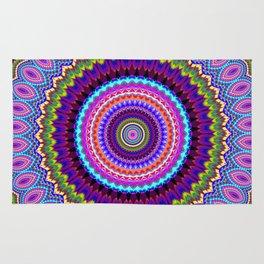 purple feathers Mandala Rug