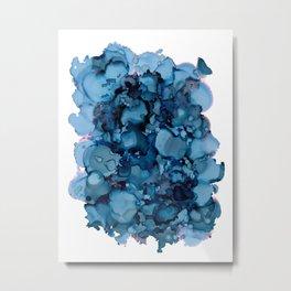 Indigo Abstract Painting | No. 8 Metal Print