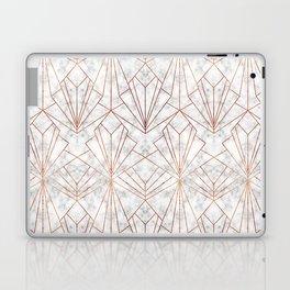 Art Deco Marble & Copper Laptop & iPad Skin