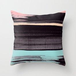 Miami stripe Throw Pillow