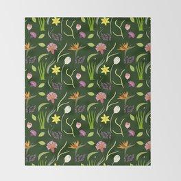 Nocturnal Spring Fantasy Throw Blanket