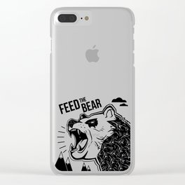 Bears and Mountains Clear iPhone Case