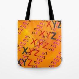 XYZ - pattern Tote Bag