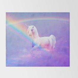 Unicorn and Rainbow Throw Blanket