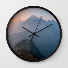 Sunrise On The Mountain Wall Clock