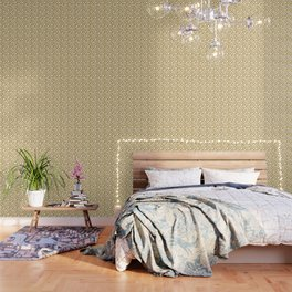 Gold Metallic Foil Photo-Effect Monstera Giant Tropical Leaves Wallpaper