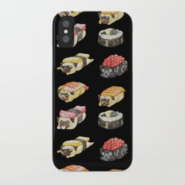 Sushi Pug Watercolor iPhone Case