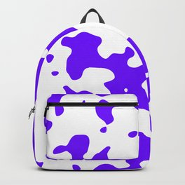 Large Spots - White and Indigo Violet Backpack