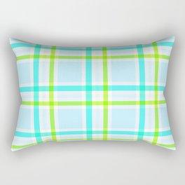 Summer Plaid Rectangular Pillow