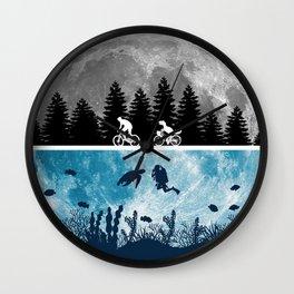 Close Encounters of the Moon Wall Clock