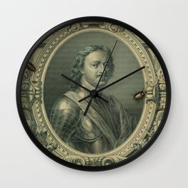 Ruble with Bugs Wall Clock