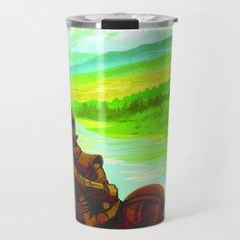 Vintage poster - Earth Travel Mug