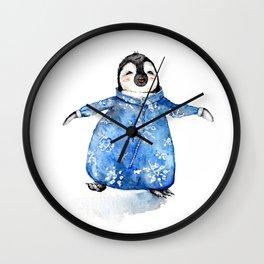 Baby Penguin in Onsie Wall Clock