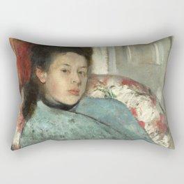 Portrait of Elena Carafa by Edgar Degas Rectangular Pillow