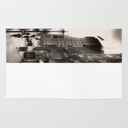 Vintage Photograph of The NYC Flat Iron Building 2 Rug