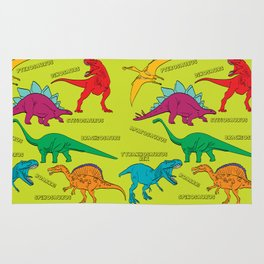 Dinosaur Print - Colors Rug