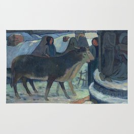 Christmas Night, The Blessing of the Oxen, Gauguin Rug