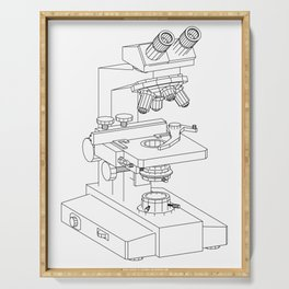 microscope Serving Tray
