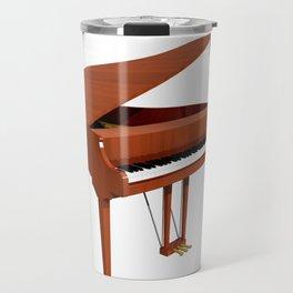 Grand Piano with Wood Finish Travel Mug