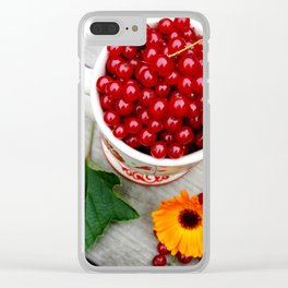 A cup of red currants I Clear iPhone Case