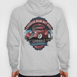 American Hot Rods Garage Vintage Car Sign Cartoon Hoody