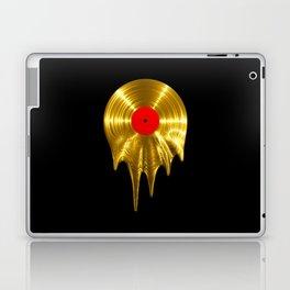 Melting vinyl GOLD / 3D render of gold vinyl record melting Laptop & iPad Skin