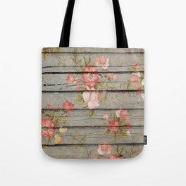 Rustic Floral Tote Bag