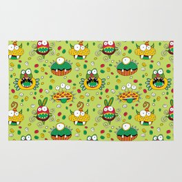 Monster Mash Green Rug