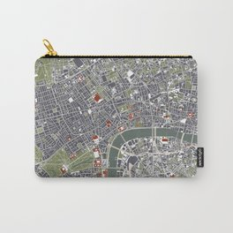 London city map engraving Carry-All Pouch