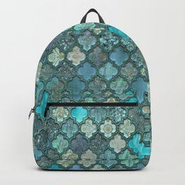 Moroccan Inspired Precious Tile Pattern Backpack