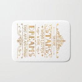 To the Stars - White Bath Mat