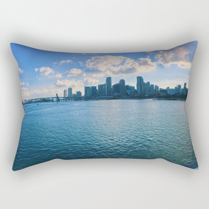 Miami Skyline Rectangular Pillow