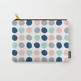 Zanthe - abstract trendy dots polka dots painted dot pattern blue pink pastel pantone color of the  Carry-All Pouch