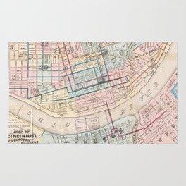 Vintage Map of Cincinnati OH (1868) Rug
