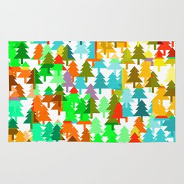 Colorful fir pattern Rug