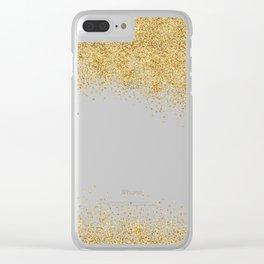 Sparkling golden glitter confetti effect Clear iPhone Case