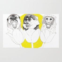 Monkeys i Tulips Rug