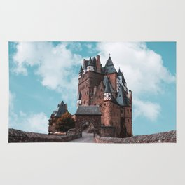 Burg Eltz Castle Germany Up in the Clouds Rug