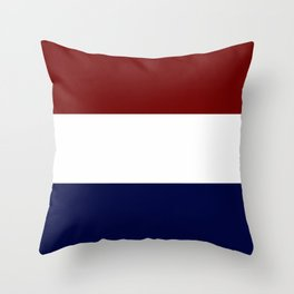 Team Colors 8....Maroon , navy and white Throw Pillow